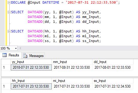 よく使われる日付と時刻の関数 2 - DATEADD, DATEDIFF, ISDATE
